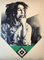 Shepard Fairey (OBEY), 'Shepard Fairey To Catch a Fire 2020 Obey Giant Print Bob Marley Tribute Green Edition ', 2020