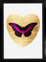 Damien Hirst, ''I Love You' Butterfly, Fuchsia/Gold', 2015