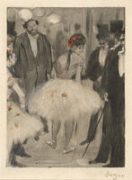 Edgar Degas, 'Virginie being Admired while the Marquis Cavalcanti Looks On', ca. 1880/1883