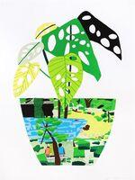 Jonas Wood, 'Landscape Pot with Plants', 2017