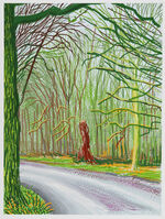 David Hockney, 'The Arrival of Spring in Woldgate, East Yorkshire in 2011 (twenty eleven) - 18 January 2011', 2011