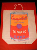 Andy Warhol, 'Campbell's Soup Shopping Bag, 1966, signed screen print on bag', 1966