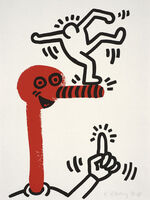 Keith Haring, 'The story of red and blue, number 20', 1990