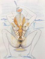 Salvador Dalí, 'Casanova - Nude and Lobster', 1967