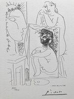 Pablo Picasso, 'Modèle tableau et sculpture (Suite Vollard Planche XLIII)', 1973