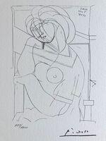 Pablo Picasso, 'Femme rêveuse (Suite Vollard Planche XXI)', 1973
