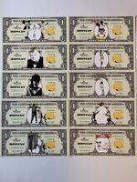 Banksy, ' BANKSY DISMALAND US DOLLARS SET OF 10, DISMAL DOLLARS', 2015