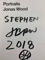 Jonas Wood, 'Jonas Wood Hand Signed Gagosian Portraits Hard Bound Cover Book NYC David Kordansky Basketball Signature  ', 2016