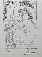 Pablo Picasso, 'Sculpteur avec son modèle et sa sculpture (Suite Vollard Planche XLV)', 1973