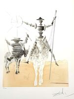 "Salvador Dalí, 'Original HandSigned Etching ""Don Quixote and Sancho"" by Salvador Dali', 1980"