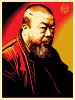 Shepard Fairey (OBEY), 'Portrait of Ai Weiwei', 2014