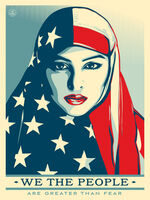 Shepard Fairey (OBEY), 'WE THE PEOPLE Are Greater Than Fear', 2017