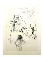 "Salvador Dalí, 'Original Etching ""Venus in Furs XIII"" by Salvador Dali', 1968"