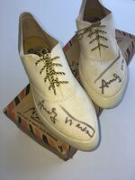 Andy Warhol, 'Pair of Randy the Tiger tennis shoes, signed', 1982