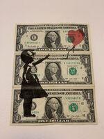 "Banksy, ' BANKSY DISMALAND US DOLLAR ""BALLOON GIRL"", REAL CURRENCY DOLLAR', 2015"