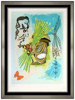 Salvador Dalí, 'Salvador Dali Hand Signed Color Lithograph The Overseer Ivanhoe Butterfly Art', 1978