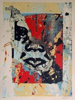 Shepard Fairey (OBEY), 'Shepard Fairey Print Enhanced Disintegration (Red) Obey Giant 2019', 2019
