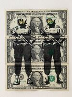 """Banksy, 'BANKSY DISMALAND US DOLLARS """"SMILEY COPPERS"""", REAL CURRENCY DOLLAR', 2015"""