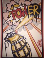 Shepard Fairey (OBEY), 'POW(ER) Shepard Fairey Print Roy Lichtenstein Obey Giant Street Art Contemporary ', 2013