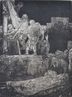 Rembrandt van Rijn, 'The Descent from the Cross by Torchlight', Etched in 1654, Printed in 1906 (Beaumont, Paris)