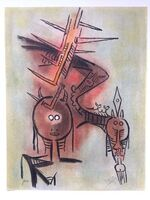 Wifredo Lam, 'Belle Epine, from Pleni Luna', 1974