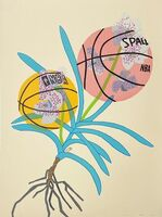 Jonas Wood, 'Double Basketball Orchid 2 - State I', 2020