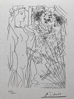 Pablo Picasso, 'Rembrandt tenant par la main une jeune femme au voile (Suite Vollard Planche XXXVI)', 1973