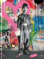 Mr. Brainwash, 'Chaplin - Pink Heart', 2019-2020