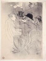 Henri de Toulouse-Lautrec, 'Au Moulin Rouge: Un Rude! Un Vrai Rude! (at the Moulin Rouge - A Rude! A True Rude!)', 1893