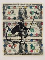 "Banksy, 'BANKSY DISMALAND US DOLLAR ""PAINTER ROLLER RAT"", REAL CURRENCY DOLLAR,', 2015"