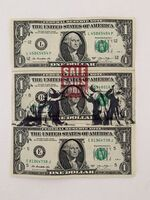 """Banksy, ' BANKSY DISMALAND US DOLLAR """"SALE ENDS TODAY"""", REAL CURRENCY DOLLAR,', 2015"""