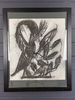 Dale Chihuly, 'Dale Chihuly Untitled Venetian Charcoal Contemporary Art Drawing', Circa 1998 -1999
