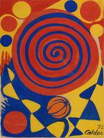 Alexander Calder, 'Spiral with Pumpkin', 1972