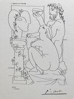 Pablo Picasso, 'Sculpteur, modèle, sculpture et poisson rouge (Suite Vollard Planche XLIV)', 1973