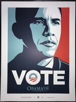 "Shepard Fairey (OBEY), 'Obama ""Vote"" ', 2008"