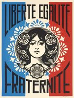 Shepard Fairey, 'Liberté Egalité Fraternité Numbered and signed', 2016