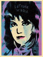 Shepard Fairey (OBEY), 'Joan Jett', 2015