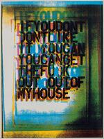 Christopher Wool, 'My House III', 2000