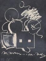 Claes Oldenburg, 'M. Mouse (with) 1 Ear (equals) Tea Bag Blackboard Version (1965)', 1973