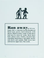Glenn Ligon, 'Runaways ', 1993