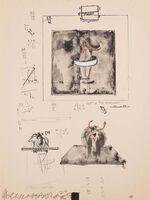 Robert Rauschenberg, 'Sketch for Monogram, 1959', 1973