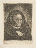Rembrandt van Rijn, 'The Artist's Mother with Her Hand on Her Chest', 1963
