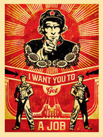 Shepard Fairey (OBEY), 'Americana Box Set: Get A Job ', 2012