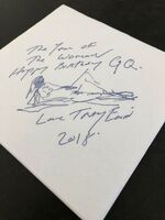 Tracey Emin, 'TRACEY EMIN  GQ 30TH ANNIVERSARY SPECIAL, PRINT ON NAPKIN', 2018