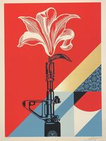 Shepard Fairey, 'Obey Giant AR-15 Lily Signed & Numbered Shepard Fairey Print Vietnam War Peace', 2020
