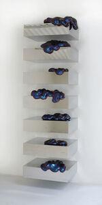 "Sylvie Fleury, '""Eternal Wow on Shelves"" (cyan/purple)', 2007"