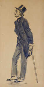 James Montgomery Flagg, 'Man with Cane and Top Hat', 20th Century