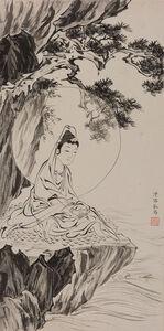 Attributed to Pu Ru, 'Guanyin seated beneath pine'