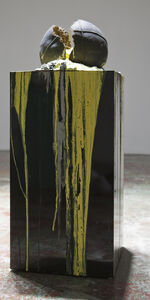 Bhakti Baxter, 'Imploded Ball Barf (black and yelow)', 2011