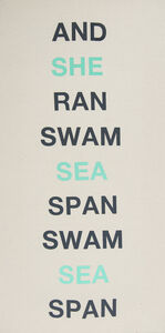 Stephanie Taylor, 'And She Ran Swam Sea Span Swam Sea Span', 2015
